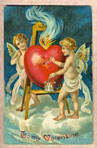 Ouderwetse Valentijnskaart uit 1909