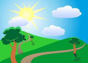 Het zonnetje schijnt!